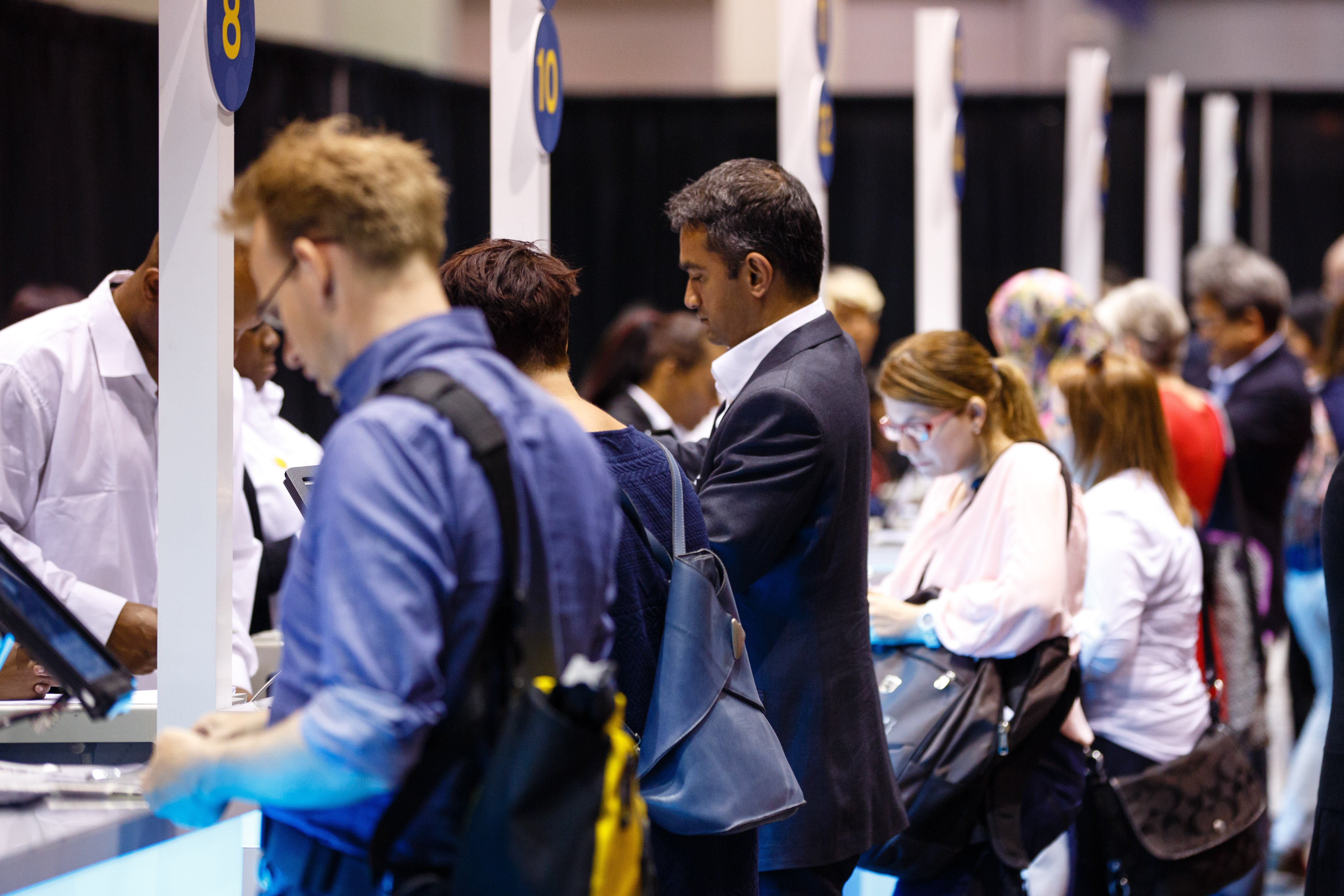 Attendees during the day at the American Society of Clinical Oncology (ASCO) Courtesy © ASCO/Scott Morgan